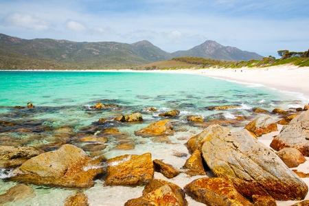 The Beach at Wineglass Bay, Freycinet National Park, Tasmania, Australia
