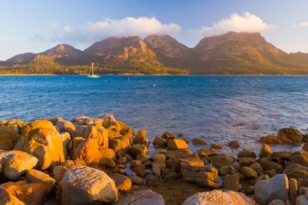 The Hazards from Coles Bay, Freycinet National Park, Tasmania, Australia