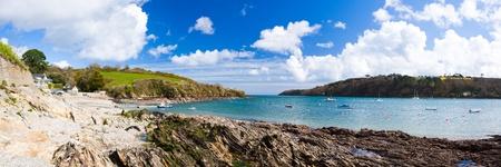 Panoramic shot of Helford Passage Cornwall England UK