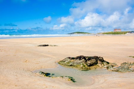 Sunny day on Fistral Beach Newquay Cornwall England UK Stock Photo - 10119769
