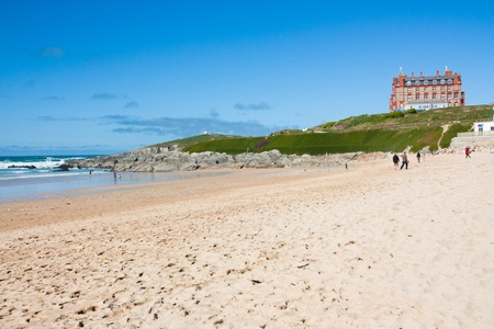 Sunny day on Fistral Beach Newquay Cornwall England UK