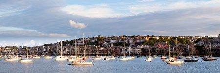 Falmouth photographed from Flushing Cornwall England UK Stock Photo