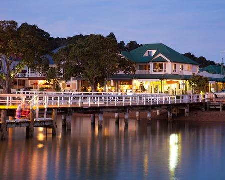 ベイ諸島の北の島ニュージーランドのラッセル