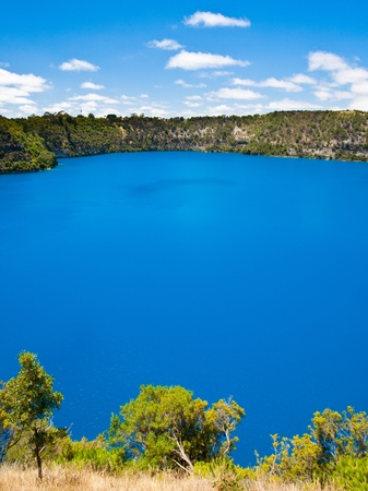 australian landscape: The incredible Blue Lake at Mt Gambier, South Australia