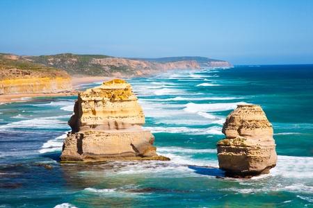十二使徒、偉大な海の道、ビクトリア、オーストラリア 写真素材