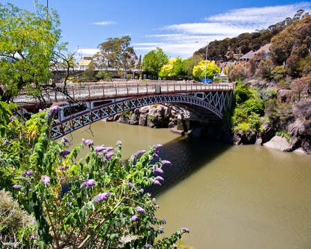 Kings bridge from Cataract Gorge, Launceston Tasmania Australia