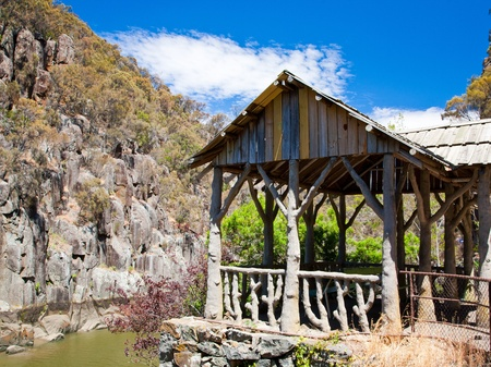 cataract: Cataract Gorge, Launceston, Tasmania, Australia Stock Photo