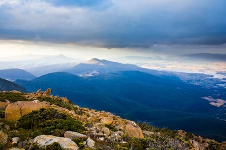 Dusk on the summit of Mount Wellington, Tasmania, Australia