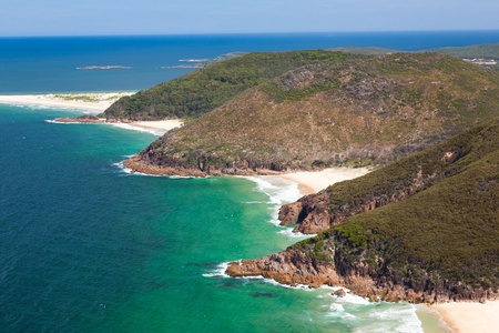 nsw: View from Tomaree Head Lookout, New South Wales Australia Stock Photo