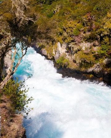Powerful Huka Falls on the Waikato River near Taupo Stock Photo - 13212164