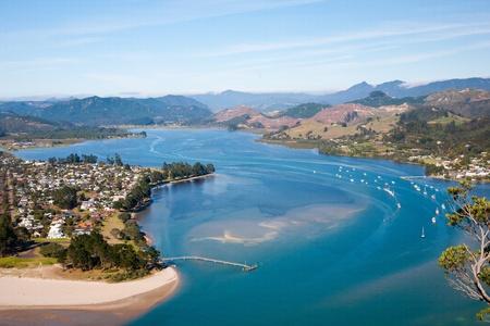 View over Pauanui from Paku Hill, Tairua, North Island, New Zealand