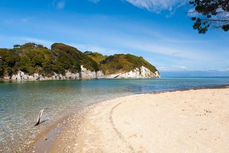 Puponga in Golden Bay near Nelson, South Island, New Zealand Stock Photo