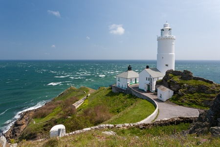 The 1836 lighthouse at Start Point Devon England UK