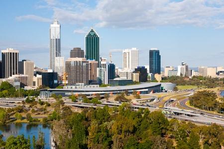 Perth Western Australia skyline from Kings Park