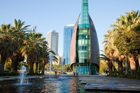 perth: Swan Bell Tower, Perth Western Australia Stock Photo