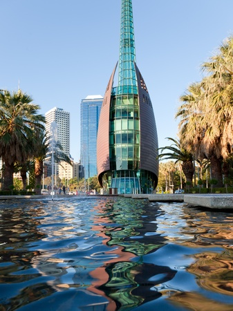 Rippels in the pool infront of the Swan Bell Tower, Perth Western Australia photo