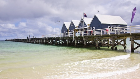 busselton: Busselton Jetty from the beach South Western Australia WA