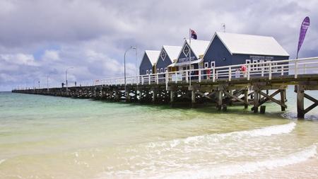 busselton: Busselton Jetty from the beach South Western Australia WA
