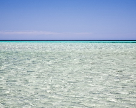 Ripples in a clear blue sea at Dunsborough Western Australia
