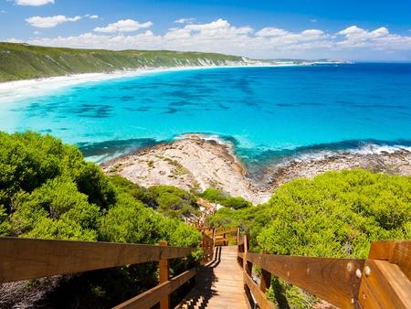 木道展望台ポイント素晴らしいオーシャン ドライブ西オーストラリア