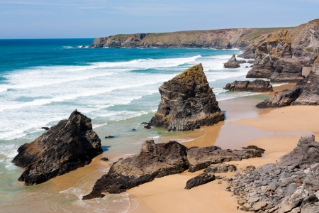 Bedruthan Steps Cornwall England UK photo
