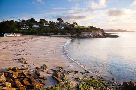 The beach at Swanpool Falmouth Cornwall England UK
