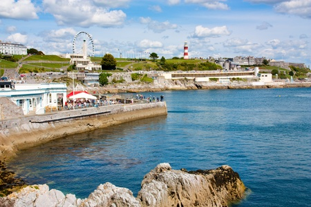 plymouth: The sea front at Plymouth Hoe Devon England UK