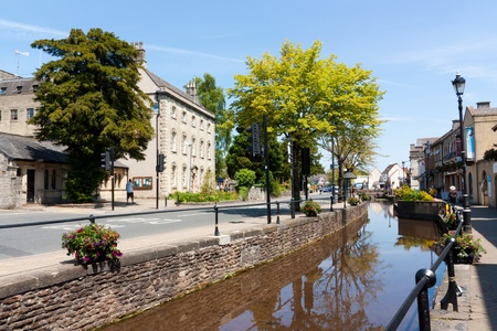 county somerset: The town of Midsomer Norton in the county of Somerset England UK Stock Photo