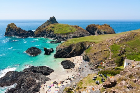 clear day: Beautiful clear day at Kynance Cove Cornwall England