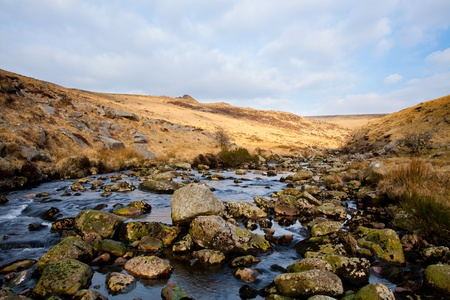 cleave: Rugged wild scenery at Tavy Cleave in Dartmoor National Park, Devon England UK Stock Photo