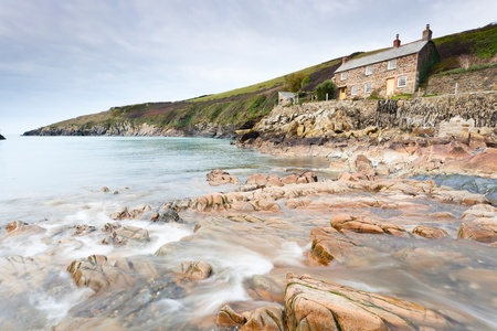 quin: Picturesque cove at Port Quin Cornwall England Stock Photo