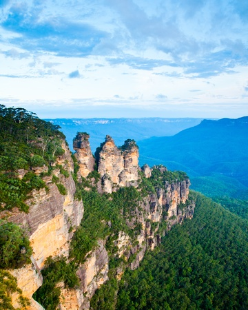 australia: The Three Sisters From Echo Point, Blue Mountains National Park, NSW, Australia