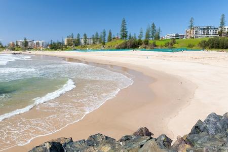町のビーチ、ポート マッコーリー, ニューサウス ウェールズ、オーストラリア 写真素材