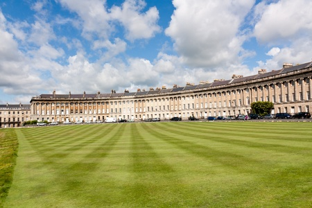 The famous Royal Crescent at Bath Somerset England UK Stock Photo - 13211957