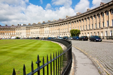 The famous Royal Crescent at Bath Somerset England UK