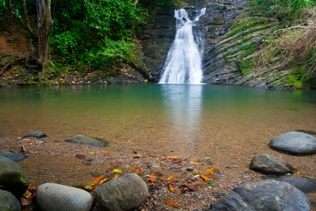 Costa Rican waterfall near Dominica