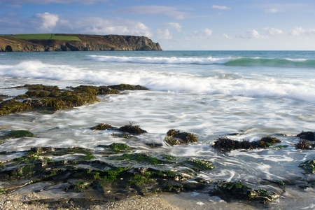 Pendower Beach Cornwall England UK photo