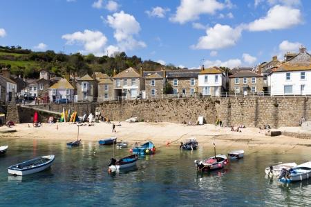 fishing village: The fishing village of Mousehole Cornwall England UK Editorial