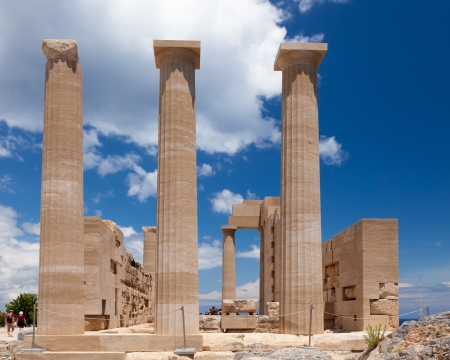 Doric Temple of Athena Lindia at Lindos on the Greek Island of Rhodes