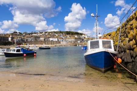 mousehole: Mousehole fishing harbour Cornwall England UK
