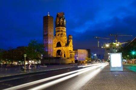Kaiser Wilhelm Memorial Church on Kurfurstendamm, Berlin Germany Europe