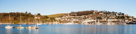 Wide panoramic shot of the River Dart with Kingswear in the background. photo