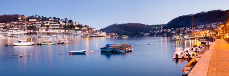 Quayside at Dartmouth Devon England with Kingswear in the background. photo
