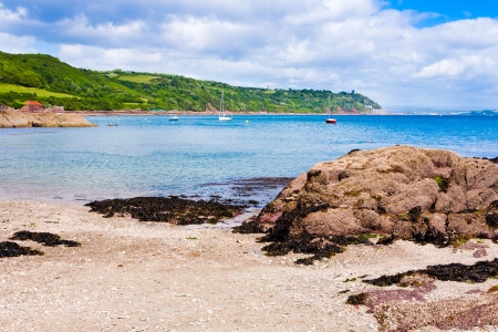 On Cawsand Beach Cornwall England UK photo