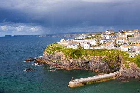 cornwall: fishing village of Port Isaac, on the North Cornwall Coast, England UK