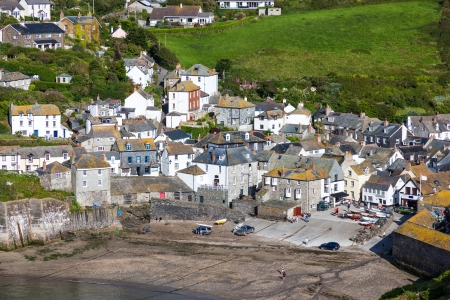 fishing village of Port Isaac, on the North Cornwall Coast, England UK Stock Photo - 14763875