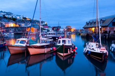 Fishing harbour at Mevagissey Cornwall England UK Stock Photo
