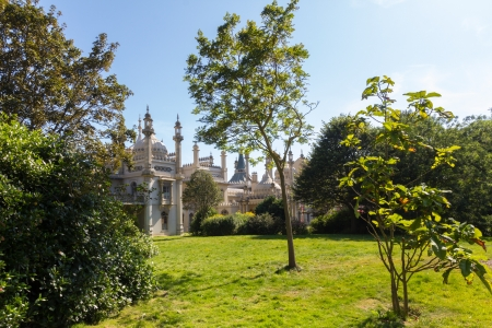 In the grounds of the Royal Pavilion a former Royal residence located in Brighton, England East Sussex photo