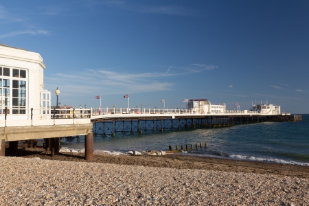 west sussex: The beach and pier at Worthing West Sussex England UK