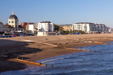 west sussex: Beach at Worthing West Sussex England UK Stock Photo